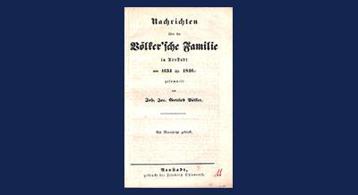 Nachrichten über die Völker'sche Familie in Arnstadt