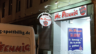 Mc Pfennig in Arnstadt